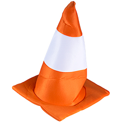 Traffic Cone Hat On A Model