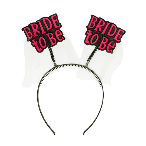 Bride to Be boppers on a black headband
