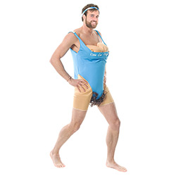 Side View Of Female Fitness Instructor Costume