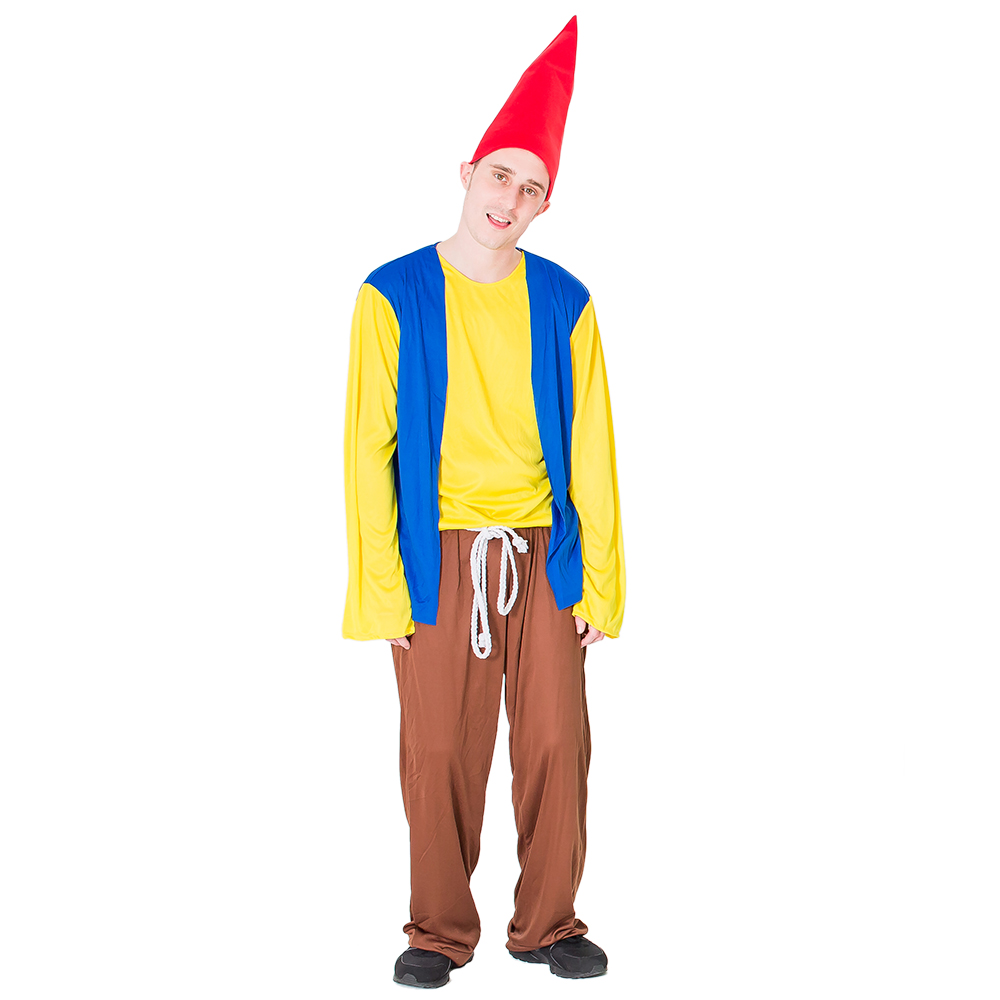 Male model wearing gnome costume