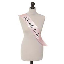 Get the bride smashed in an elegant sash