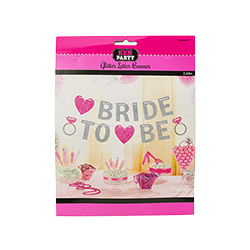 The glitter Bride-to-Be bunting in its packaging