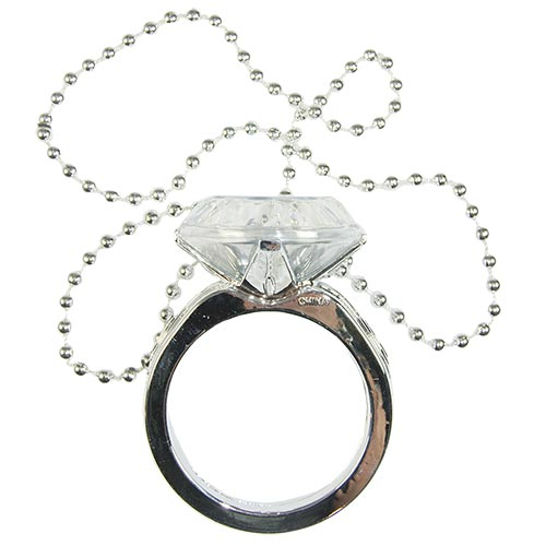 Giant ring necklace laid out flat with ring in the middle