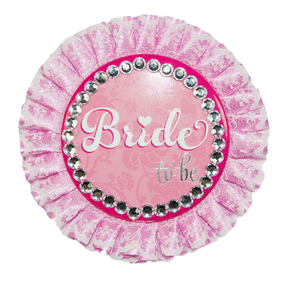Deluxe Bride To Be Badge On White Background