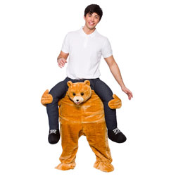 Male model wearing Carry Me Teddy costume