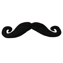 Large Black Moustache On White Background