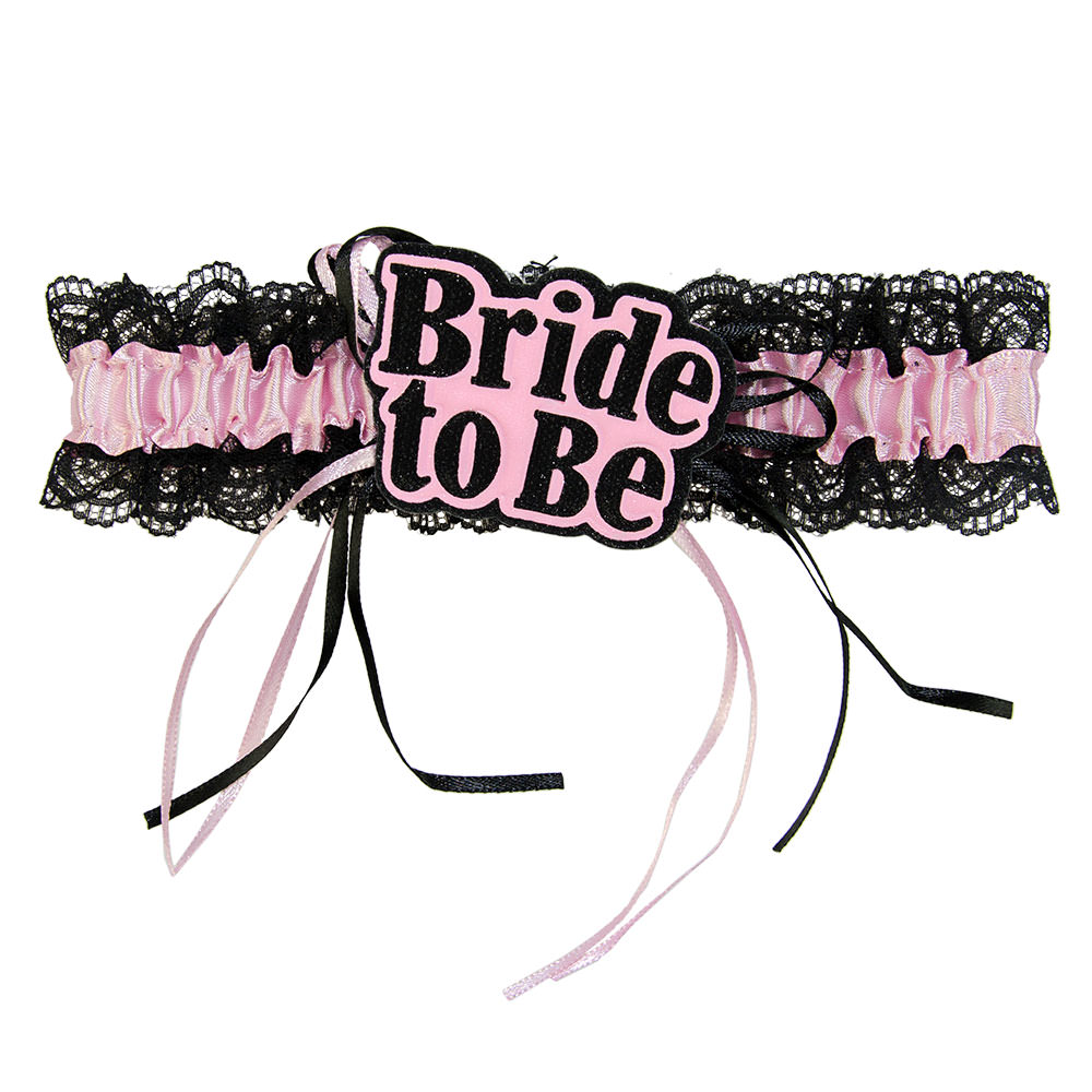 Padded Bride To Be Garter On White Background