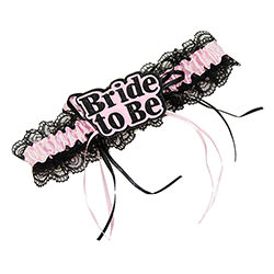 Padded Bride To Be Garter On With Tassles