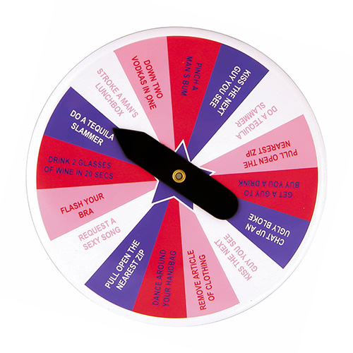 Spin a Dare Game On White Background
