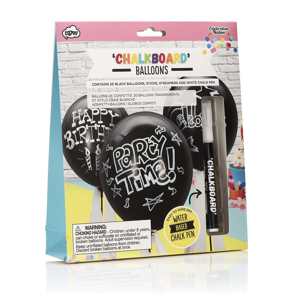 Chalkboard balloon packet