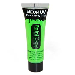 Tube of green neon UV face paint