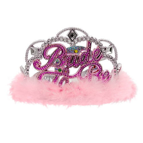 The bride to be flashing tiara out of its box