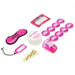 All of the equipment included within the emergency hen party travel kit