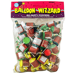 Pack Of Fifty Party Poppers