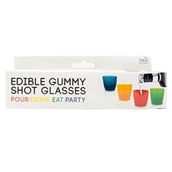 The gummy shot glasses box