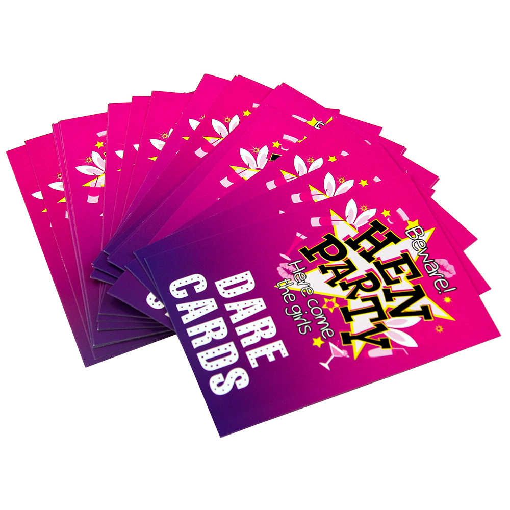 Hen Party Dare Cards On White Background