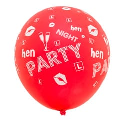 A red hen party balloon
