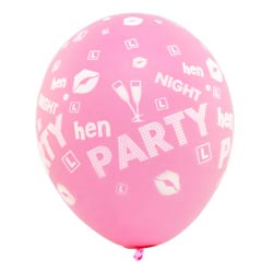 A pink hen party balloon