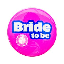 The Bride to be hen party badge