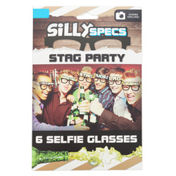 The box with six stag do glasses in