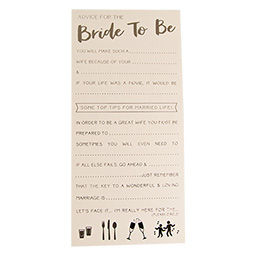 A Team Bride advice sheet with its text visible