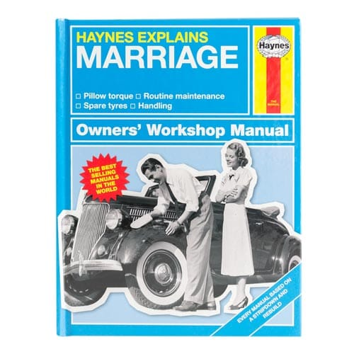 Haynes Explains Marriage book front cover