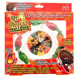 The hot chilli challenge in its box