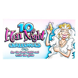 The front page of the 10 hen night challenges booklet