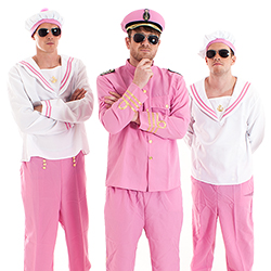 Three sailors wearing shades