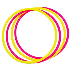Some pink and yellow rings in a Venn-diagram style layout