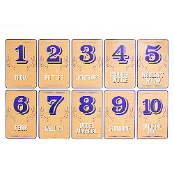 Stag night rating cards 1 to 10 laid out in order