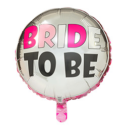 The bride to be balloon once inflated.