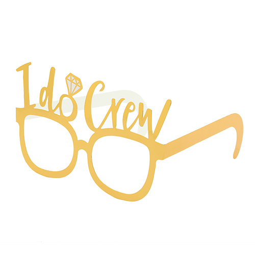 Gold I do crew glasses