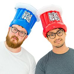 Comes with a red and a blue hat.