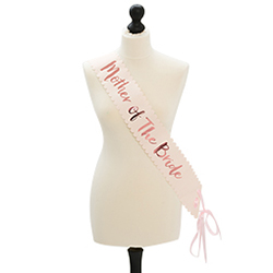 Rose gold mother of the bride sash