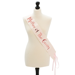 Team bride mother of the groom sash