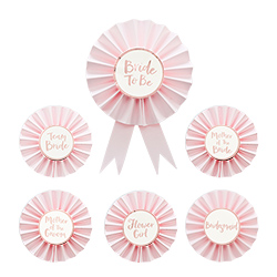 Full set of hen party badges