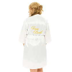 Team bride kimono with gold embroidery.