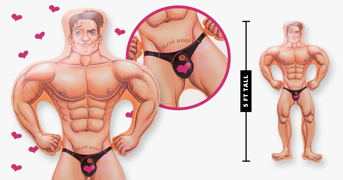 Various images of harry the hunk, demonstrating his size