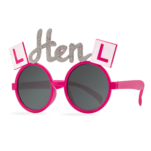 Some hen night sun glasses with glitter on the side