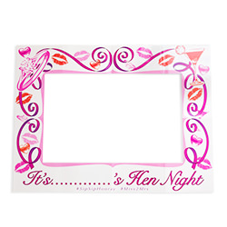 Hen night design selfie frame.