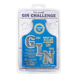 The gin challenge in its packaging