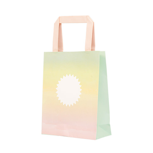 A pastel coloured gift bag