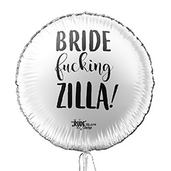 White and black bride zilla balloon.