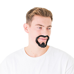 The model wearing the beard
