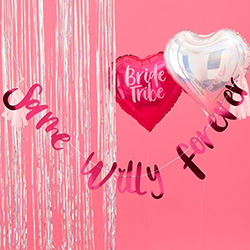 Part of the bride tribe range, which includes these balloons.