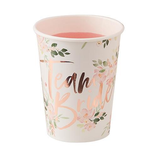 A team bride paper cup.