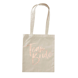 The Team Bride tote bag on a white background.