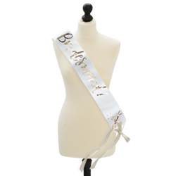 The white and gold sash seen on a mannequin