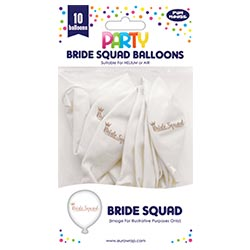 Bride squad balloons in the pack.